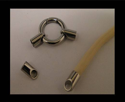 Stainless steel end cap SSP-56-5mm