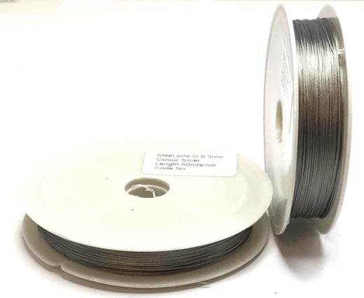 Steel wire 0.3mm - Silver