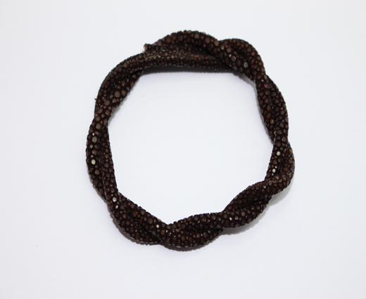 Stingray Cord - 4mm - Dark brown