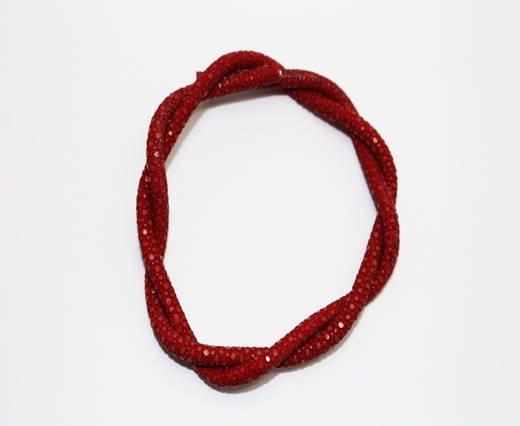 Stingray Cord - 4mm - Dark Red