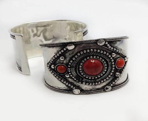 Stone Cuff Bracelet - Style10 - 4.5cms