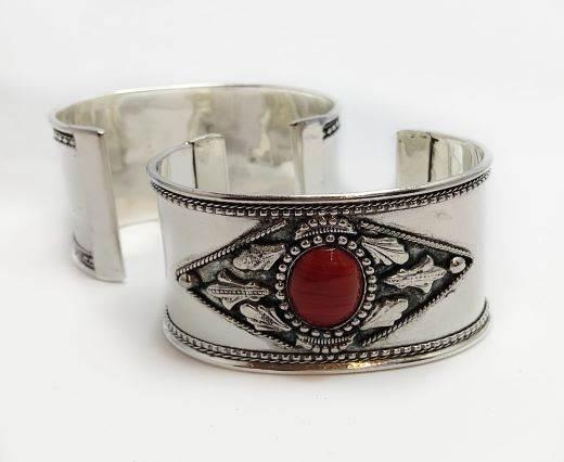 Stone Cuff Bracelet - Style11 - 4.5cms