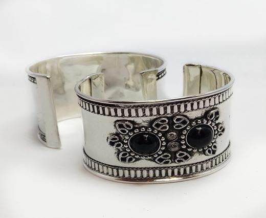 Stone Cuff Bracelet - Style12 - 4.5cms