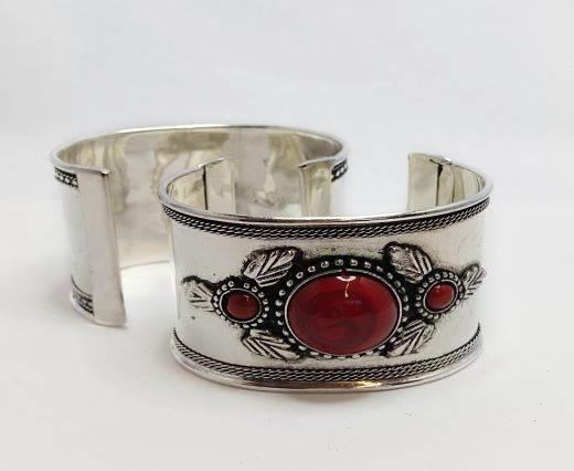 Stone Cuff Bracelet - Style13 - 4.5cms