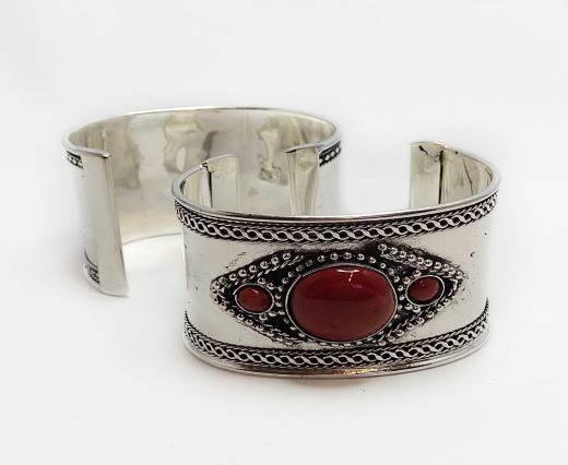 Stone Cuff Bracelet - Style15 - 4.5cms