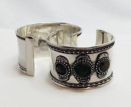 Stone Cuff Bracelet - Style1 - 4.5cms