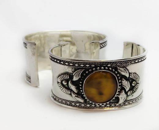 Stone Cuff Bracelet - Style2 - 4.5cms
