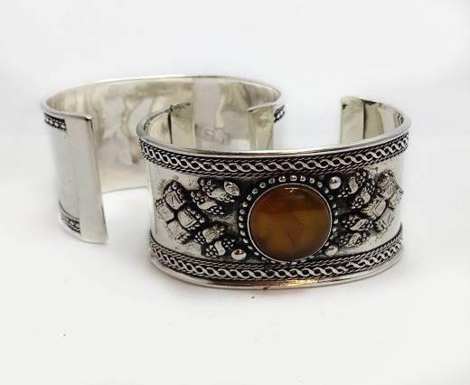 Stone Cuff Bracelet - Style3 - 4.5cms