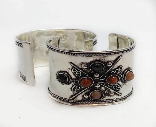Stone Cuff Bracelet - Style4 - 4.5cms