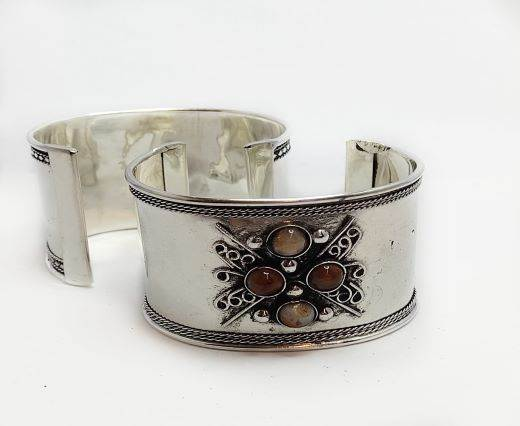 Stone Cuff Bracelet - Style5 - 4.5cms