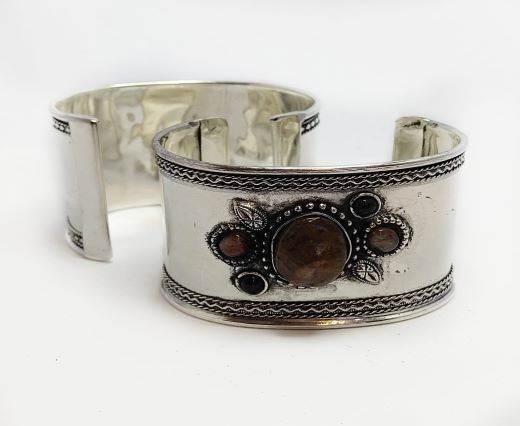 Stone Cuff Bracelet - Style6 - 4.5cms