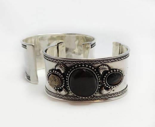 Stone Cuff Bracelet - Style7 - 4.5cms