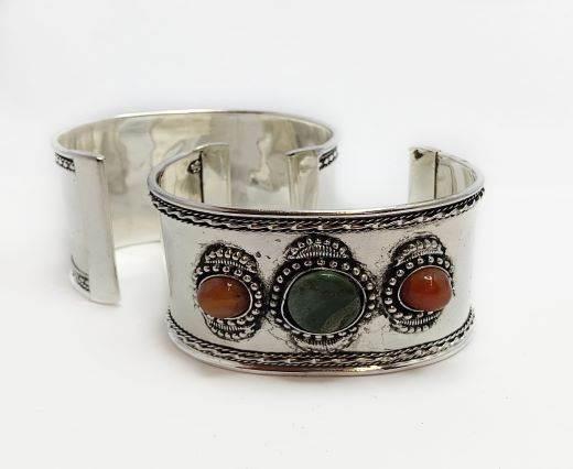 Stone Cuff Bracelet - Style8 - 4.5cms