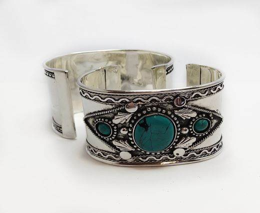 Stone Cuff Bracelet - Style9 - 4.5cms