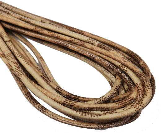 Round Stitched Nappa Leather Cord-4mm-style patch beige