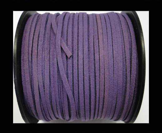 Suede cord - 3mm - Dark Purple