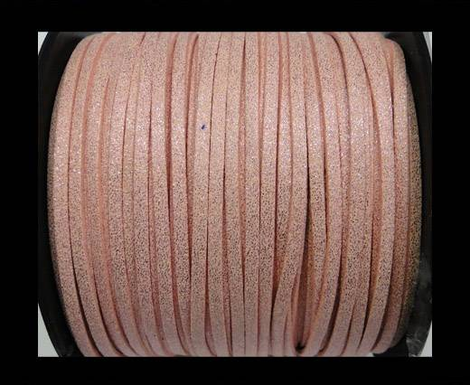 Suede cord - 3mm - Glitter Pink