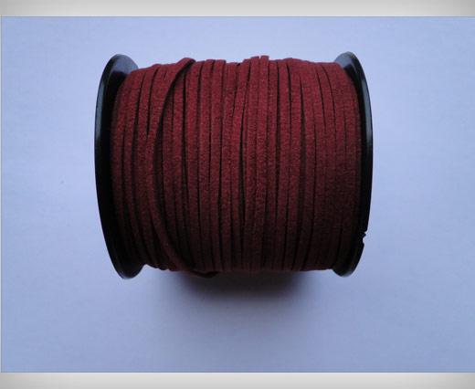 Suede Cords-3mm-Maroon