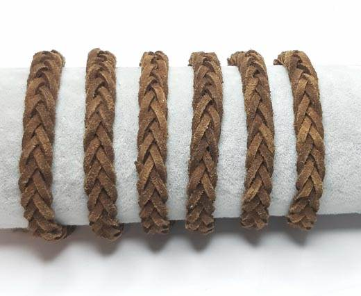Thick Flat Suede Braided -10mm-Tan