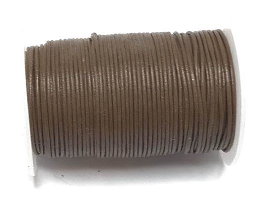 Round Leather Cord -0.5mm-  Tan