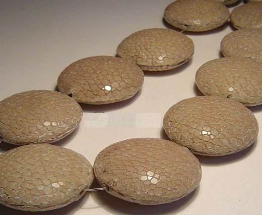 Sting Ray Beads - 18mm-Taupe-Lenses