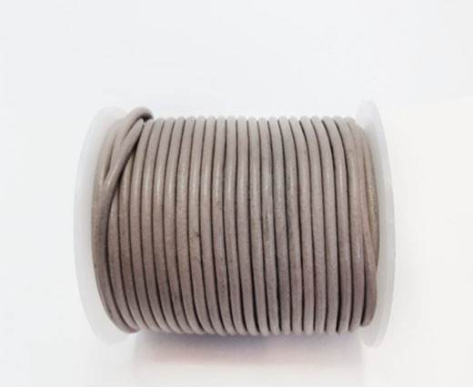 Round Leather Cord - 3mm - TAUPE