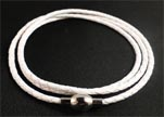 Three wrap leather bracelets SE-DB-White-3mm