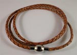 Three wrap leather bracelets SE-PB-10-3MM