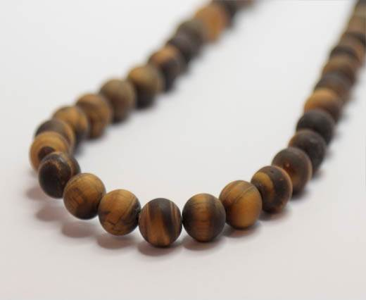 Natural Stones-8mm-Tiger Eye Frosted