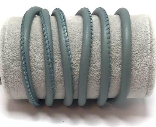 Round stitched nappa leather cord-6mm-Turmaline
