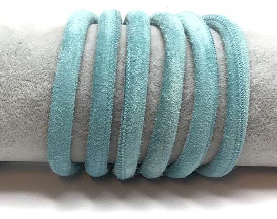 Real Nappa Suede Round-6mm-Turquoise