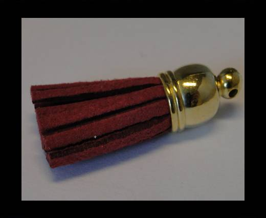 Tussels-Suede-Gold Caps-Fuchsia-30mm