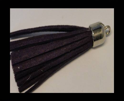 Tussels-Suede-Silver Caps-Dark Purple-30mm