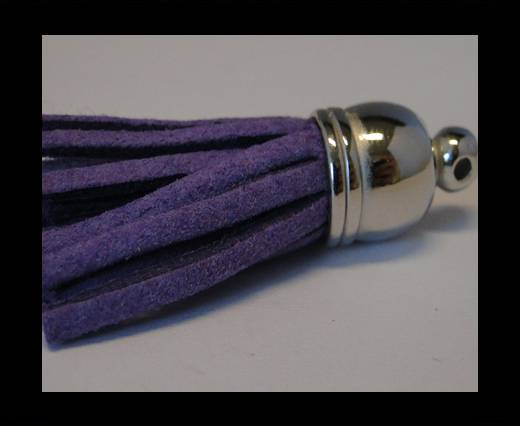Tussels-Suede-Silver Caps-Purple-30mm
