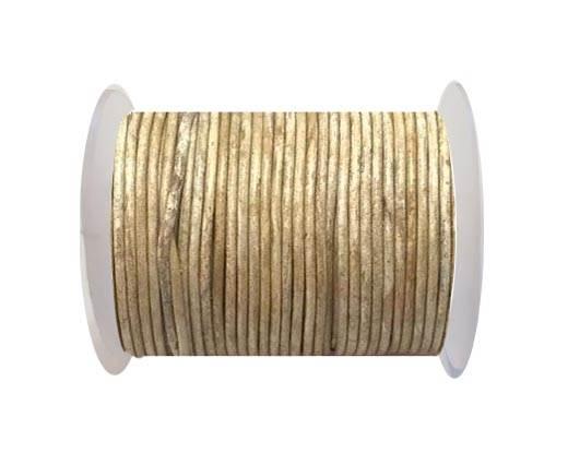 Round leather cord-2mm- Vintage CAMEL(V025)