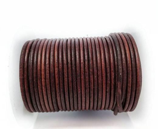 Round Leather cords  2,5mm - Vintage Cognec