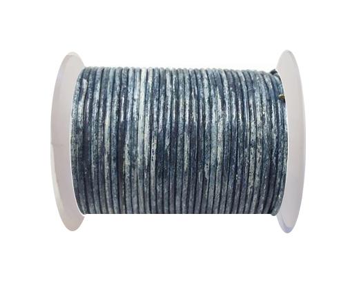 Round Leather Cord-1,5mm- Vintage Dark Blue(040)
