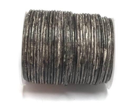 Round Leather cords  2,5mm -Vintage Dark Brown