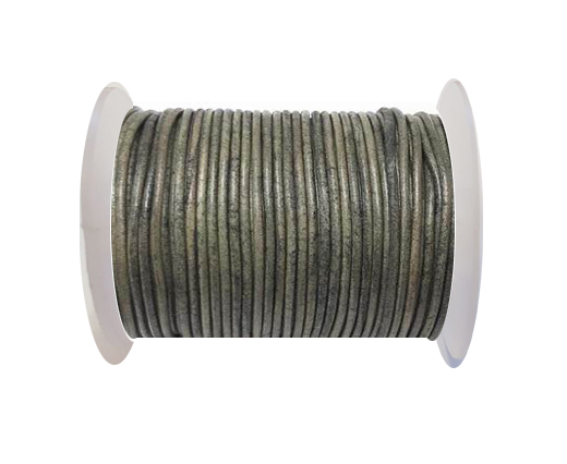 Round Leather Cord-1,5mm- Vintage Grey(026)