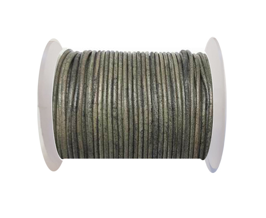 Round Leather Cord-1,5mm- vintage grey