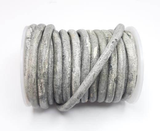 Round Leather Cords - 5mm - Vintage Grey (V_026)