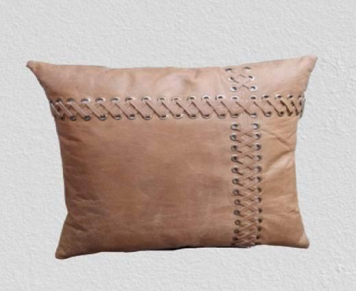 Rectangular Cushion - Vintage leather cushion - Brown - Style 1