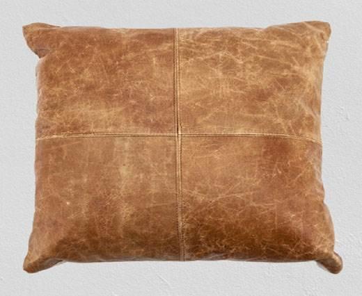 Rectangular Cushion - Vintage - Cognac