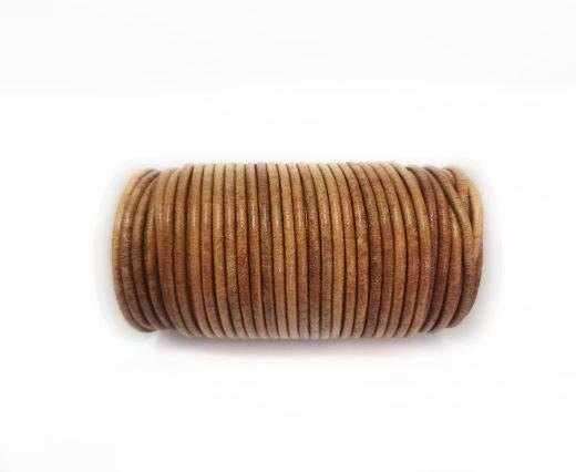 Round leather cord-2mm-Vintage light Tan