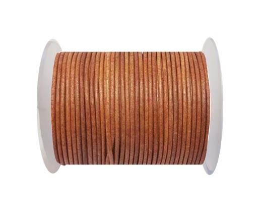 Round leather cord-2mm-vintage orange