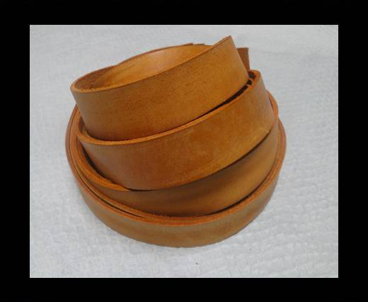 Vintage Style Flat Leather - 14mm-Vintage Tan