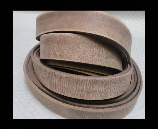 Vintage Style Flat Leather - 14mm-Tiger Vintage Taupe