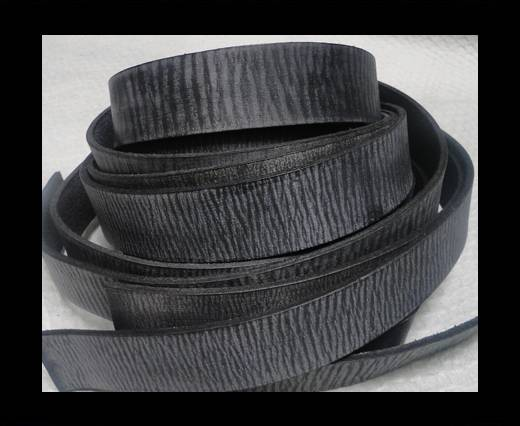 Vintage Style Flat Leather - 14mm-Vintage Black