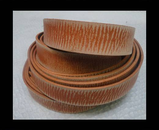 Vintage Style Flat Leather - 20mm-Tiger Vintage Tan