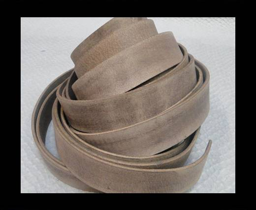Vintage Style Flat Leather - 20mm-Vintage Taupe